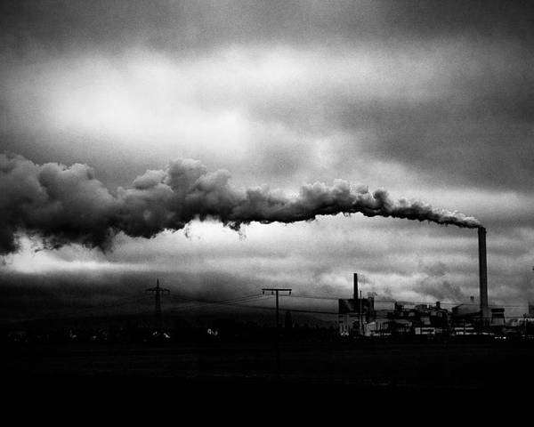 Photography Poster featuring the photograph Industrial Eruption by Ilker Goksen