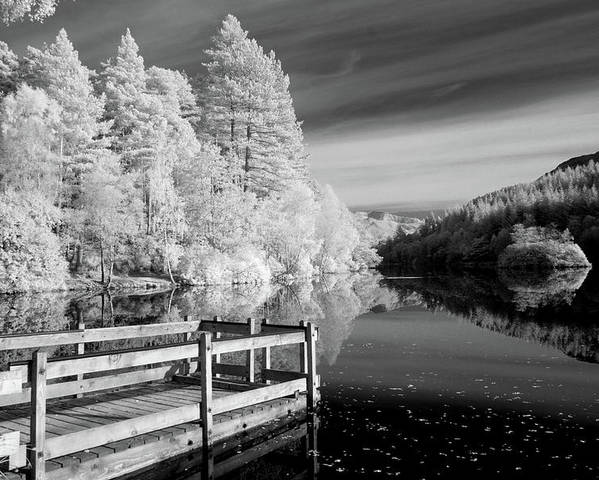 Horizontal Poster featuring the photograph Infrared Glencoe Lochan by Billy Currie Photography