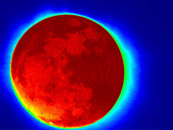 Infrared Poster featuring the photograph Infrared Super Moon 2012 by Sheri McLeroy