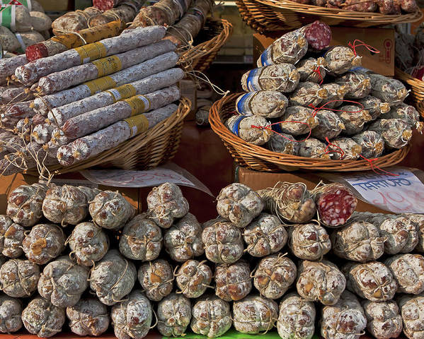 Salami Poster featuring the photograph Italian Market by Joana Kruse