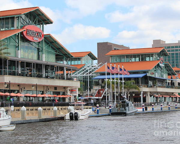 Jacksonville Poster featuring the photograph Jacksonville Florida Landing by Rod Andress