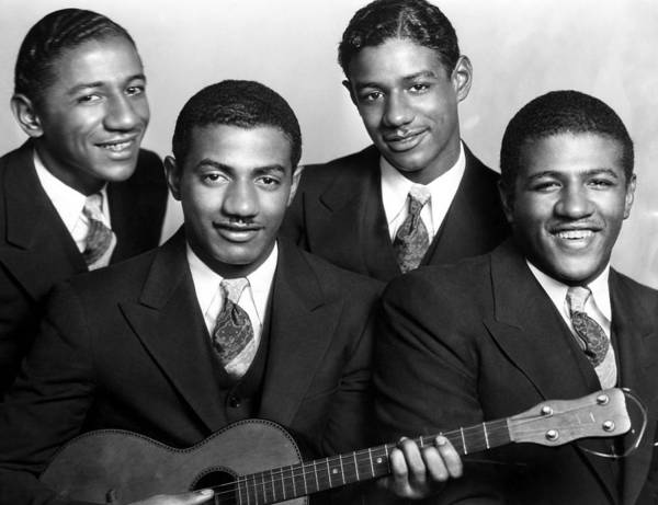 1930s Poster featuring the photograph Jazz Vocal Quartet The Mills Brothers by Everett