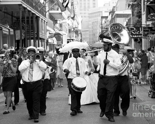 New Orleans Poster featuring the photograph Jazz Wedding by Leslie Leda