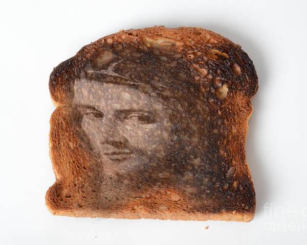 Toast Poster featuring the photograph Jesus Toast by Photo Researchers, Inc.