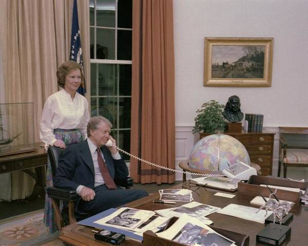 History Poster featuring the photograph Jimmy Carter And Rosalynn Carter by Everett