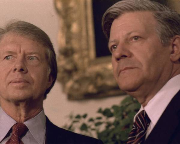 History Poster featuring the photograph Jimmy Carter Meeting With German by Everett