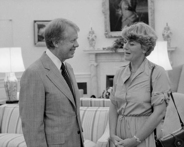 History Poster featuring the photograph Jimmy Carter With Congresswoman by Everett