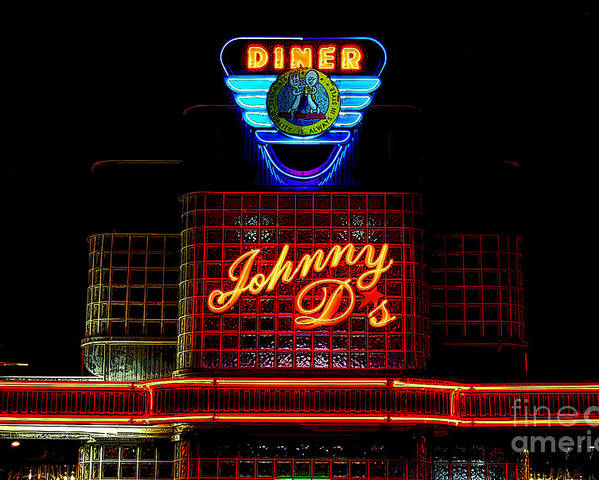 Diner Poster featuring the photograph Johnny D's by Guy Harnett