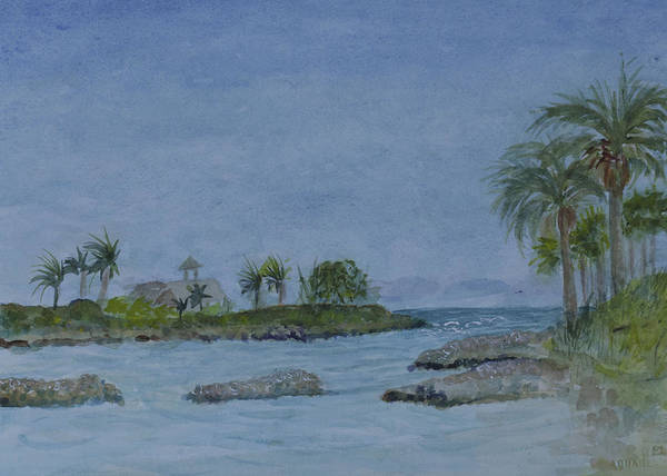 Jupiter Inlet Poster featuring the painting Jupiter Inlet by Donna Walsh