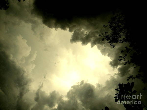 Storms Poster featuring the photograph Just Look Up by Kimberly Dawn Hendley