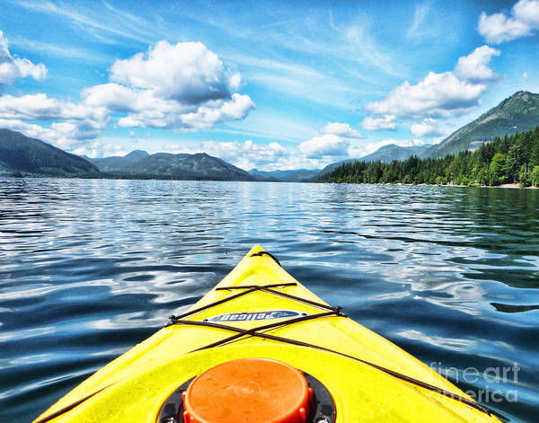 British Columbia Poster featuring the photograph Kayaking In Bc by Traci Cottingham