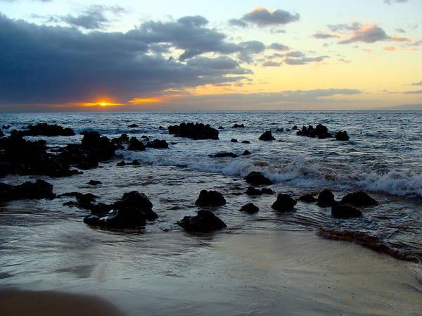 Keaweakapu Poster featuring the photograph Keaweakapu Beach Sunset by Karon Melillo DeVega
