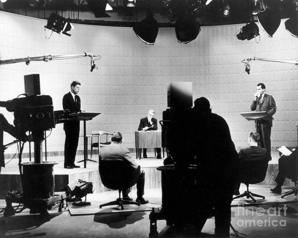 1960 Poster featuring the photograph Kennedy/nixon Debate, 1960 by Granger