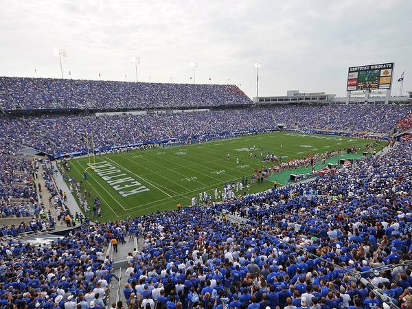 Lexington Poster featuring the photograph Kentucky Commonwealth Stadium by University of Kentucky