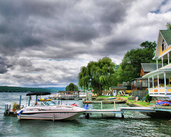 Lake Poster featuring the photograph Keuka Lake Shoreline by Steven Ainsworth