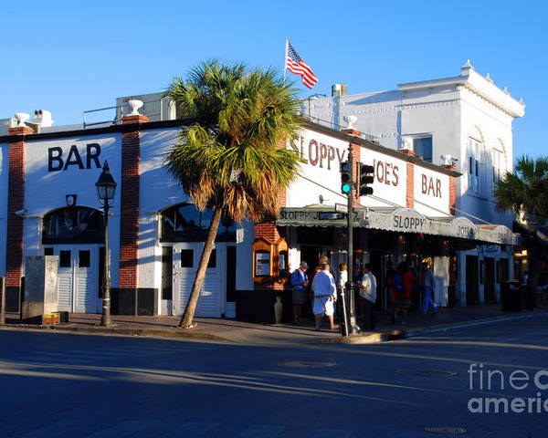 Key West Poster featuring the photograph Key West Bar Sloppy Joes by Susanne Van Hulst