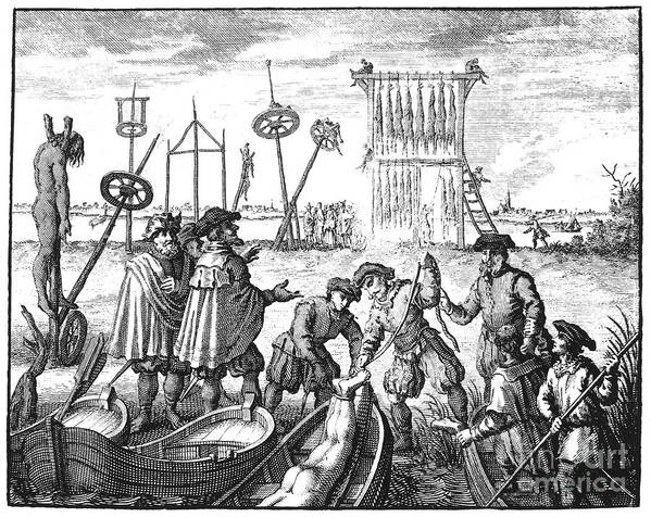 1535 Poster featuring the photograph Killing Of Anabaptists by Granger