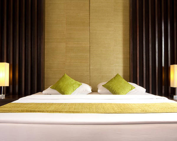 Hotel Poster featuring the photograph King Size Bed by Atiketta Sangasaeng