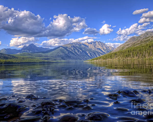 Landscape Poster featuring the photograph Kintla Lake Pebbles by Scotts Scapes