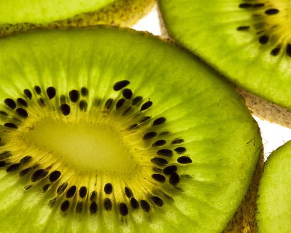 Kiwi Poster featuring the photograph Kiwi Fruit Macro 5 by John Brueske
