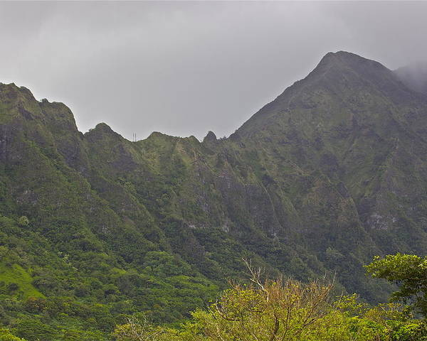 Mountain Poster featuring the photograph Koolau Range 4 by Eddie Freeman