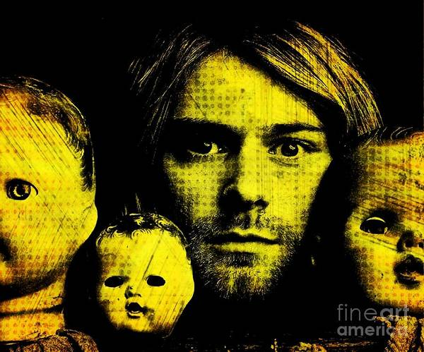 Kurt Poster featuring the digital art Kurt Cobain by Ankeeta Bansal