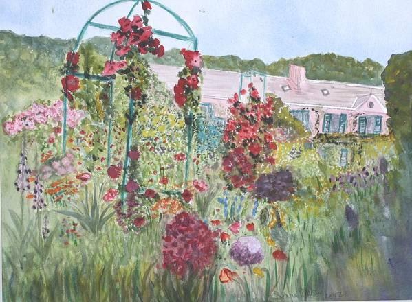 Monet Poster featuring the painting La Maison Et Le Jardin De Monet by Donna Walsh
