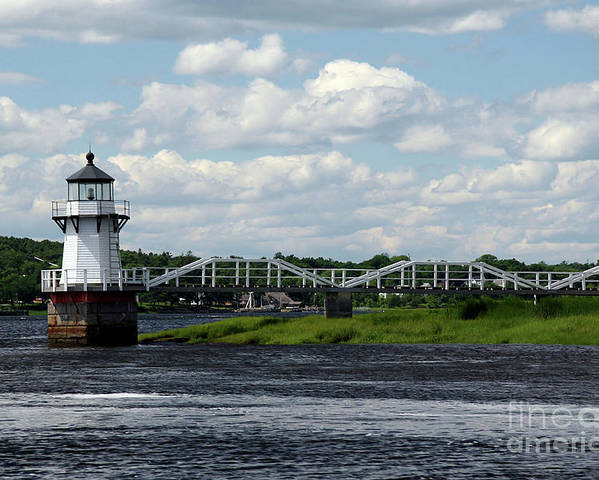 Doubling Point Light Poster featuring the photograph Lace Lighthouse by Brenda Giasson