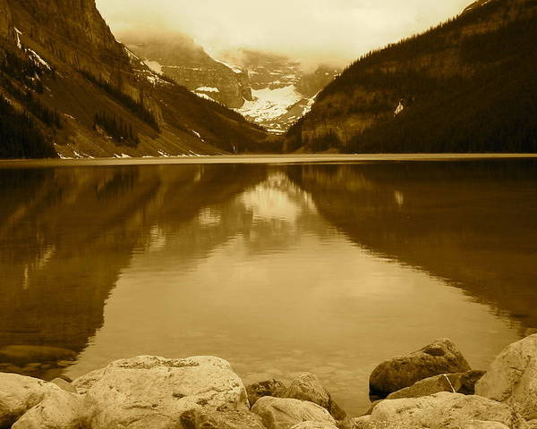 Lake Louise Poster featuring the photograph Lake Louise by Eli Tynan