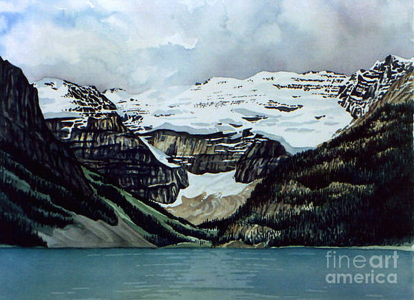 Lake Louise Poster featuring the painting Lake Louise by Scott Nelson