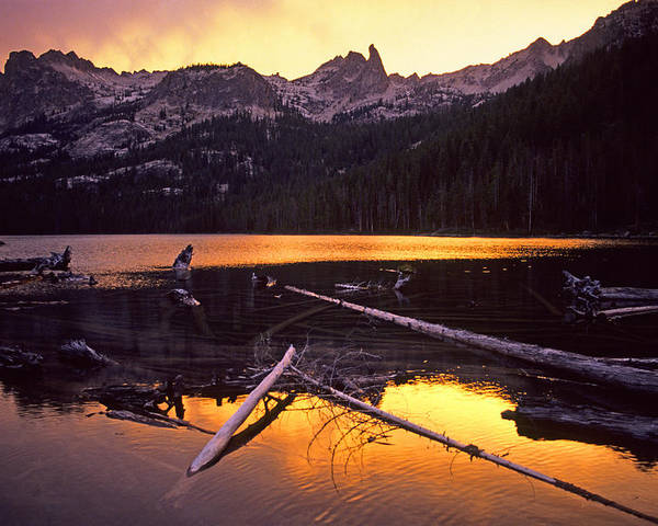 Sawtooth Mountains Poster featuring the photograph Lake by Elijah Weber