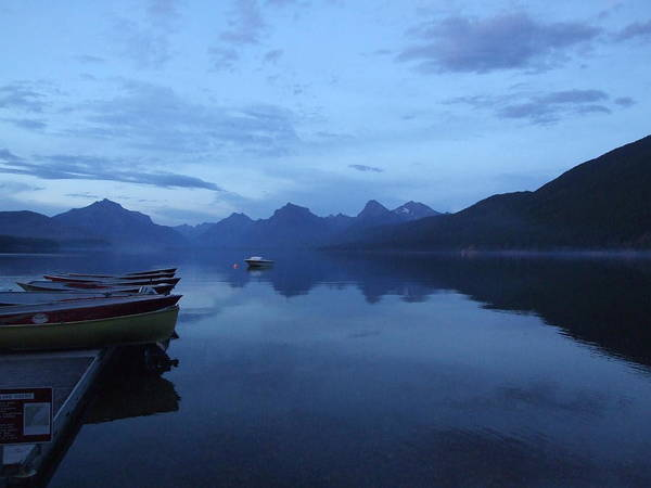 Lake Mcdonald Poster featuring the photograph Lake Mcdonald by Marie-Claire Dole