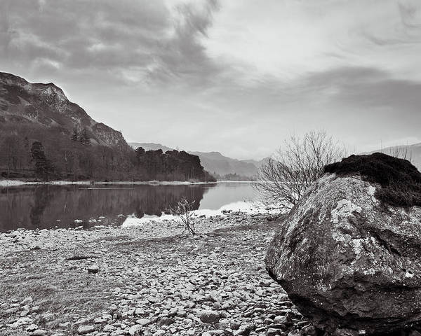 Blea Crag Poster featuring the photograph Large Rock by Gary Finnigan