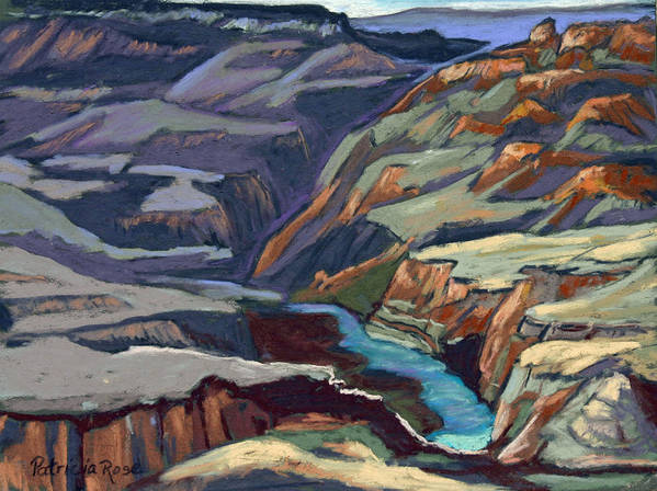 Plein Air Pastel Landscape. Poster featuring the pastel Late Afternoon In The Canyon by Patricia Rose Ford