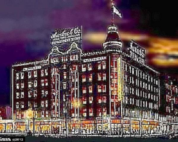 Salt Lake City Ut Poster featuring the painting Lauerbach's Department Store In Salt Lake City Ut In 1910 by Dwight Goss
