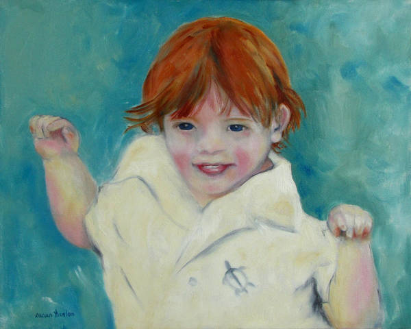 Child Poster featuring the painting Laughter by Susan Hanlon