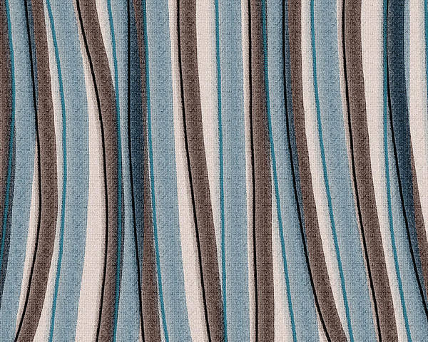 Stripes Poster featuring the painting Lazy Stripes by Bonnie Bruno