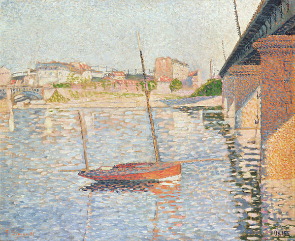 Clipper Poster featuring the painting Le Clipper - Asnieres by Paul Signac