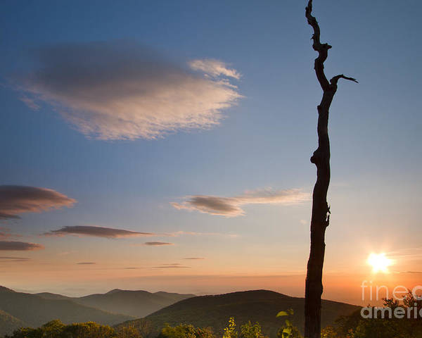 Lenticular Clouds Poster featuring the photograph Lenticular Clouds Over Shenandoah National Park by Dustin K Ryan