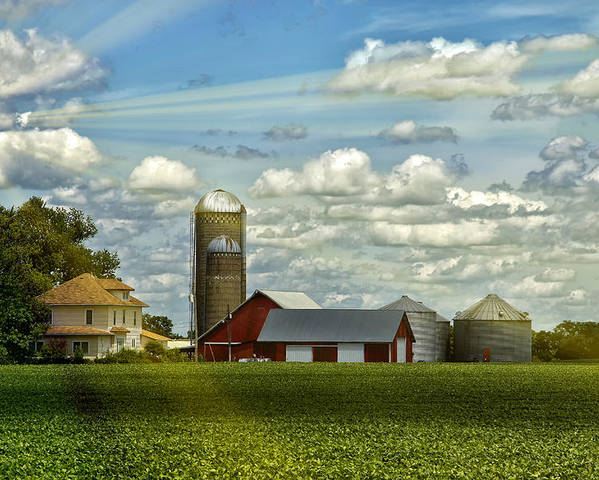 Barn Poster featuring the photograph Light After The Storm by Bill Tiepelman