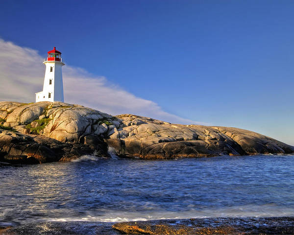 Lighthouse Poster featuring the photograph Lighthouse At Peggy's Cove by Donna Caplinger