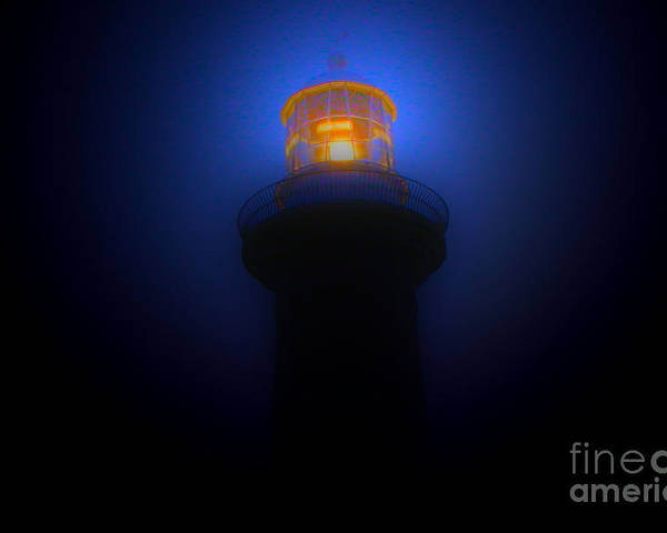 Lighthouse Photographs Poster featuring the photograph Lighthouse Glow by Joanne Kocwin