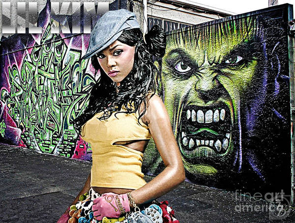 Lil Kim Poster featuring the digital art Lil Kim by The DigArtisT