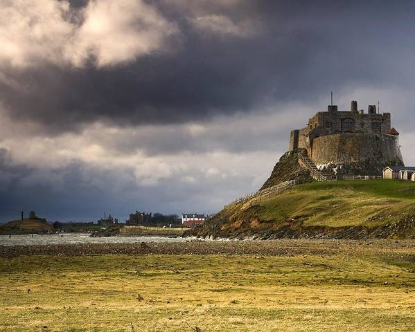 Attractions Poster featuring the photograph Lindisfarne Castle, Beblowe Crag by John Short