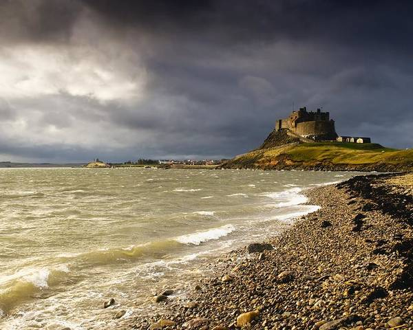 Attractions Poster featuring the photograph Lindisfarne Castle, Holy Island by John Short