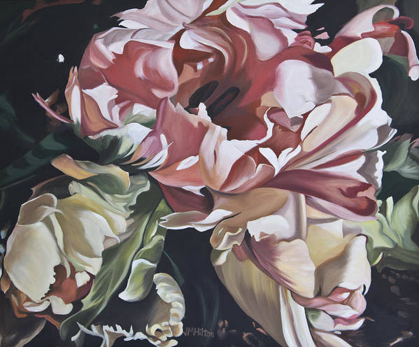 Lisianthus Poster featuring the painting Lisianthus by Judy Hilton