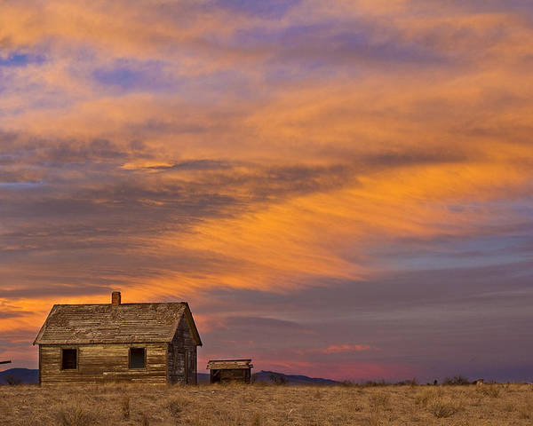 North Poster featuring the photograph Little House On The Colorado Prairie 2 by James BO Insogna