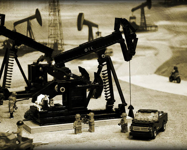 Oil Poster featuring the photograph Little Pumpjacks by Ricky Barnard