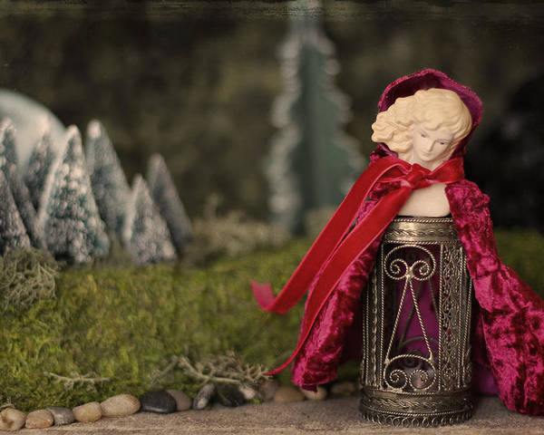 Fantasy Poster featuring the photograph Little Red Riding Hood by Heidi Thrasher