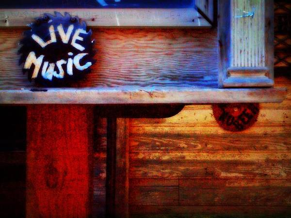 Music Poster featuring the photograph Live Music by Lori Burton